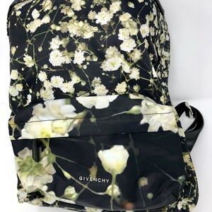 UNISEX Givenchy Nylon and Leather Floral Backpack